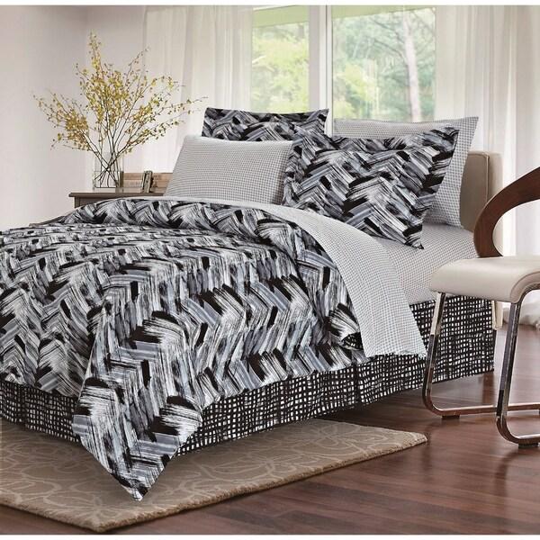 Tribeca Black 8-piece Bed-In-Bag Set