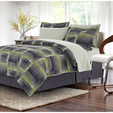 Shadow Box Lime 8-piece Bed-in-a-Bag Set