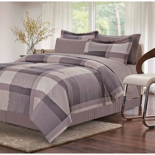 Harmony Grey 8-piece Bed-In-Bag Set