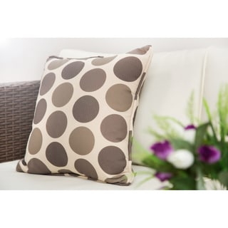 Waterproof Brown Dots Spotted Scatter Cushion Cover Square Throw Pillowcase (Set of 2)