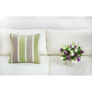 Outdoor Slight Waterproof Polyester and Fade Resistant Square Pillowcase Set (Set of 2)