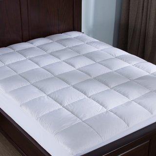 2 Inch Thick 100% Cotton Hypoallergenic Down Alternative Mattress Topper - White