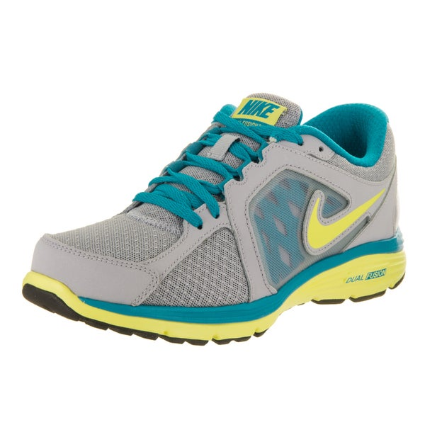 new arrivals 8ef3d fc0f2 Nike Women  x27 s Dual Fusion Run Grey Synthetic-leather Running Shoes