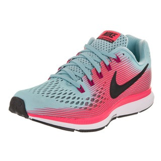Nike Women's Air Zoom Pegasus 34 Blue/Pink Synthetic Leather Running Shoes