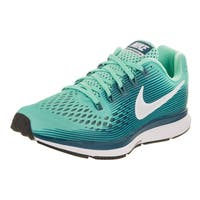 Nike Women's Air Zoom Pegasus 34 Hyper Turquoise/White Legion Blue Faux Leather Running Shoe