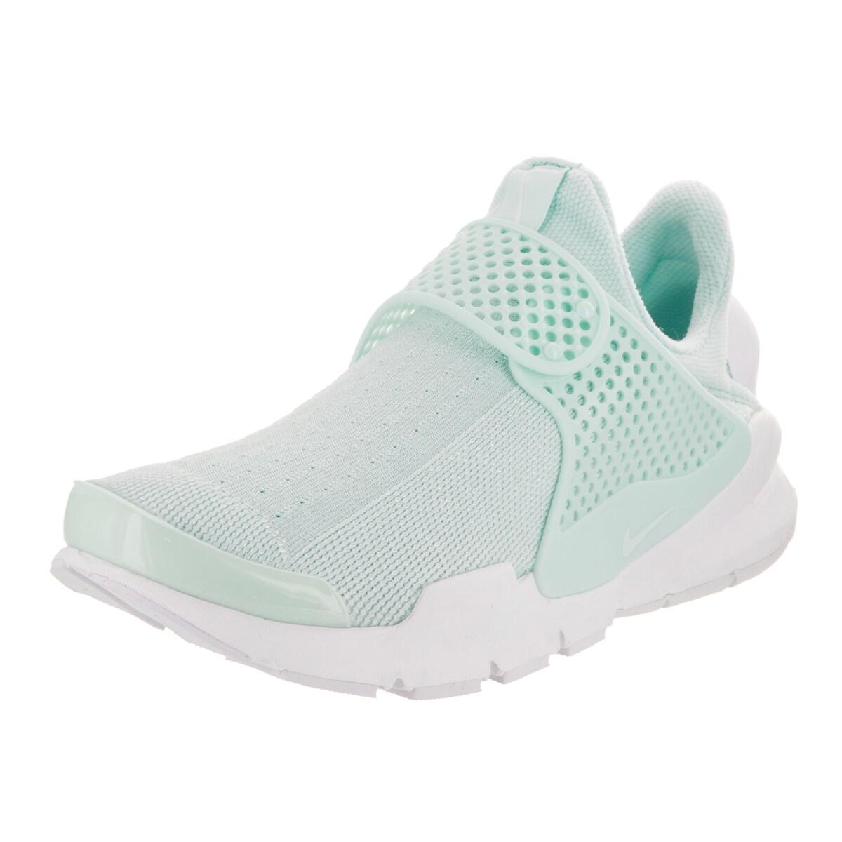 Nike Women's Sock Dart White and Blue Textile Running Sho...