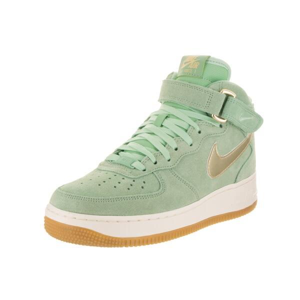 wyprzedaż w sprzedaży hurtowej ogromny zapas Shop Nike Women's Air Force 1 '07 Mid Seasonal Green Suede ...