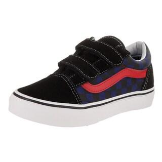 Vans Kids Old Skool V (Checkerboard) Skate Shoe