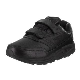 Brooks Men's Addiction Walker V-strap 4E Black Leather Casual Shoes