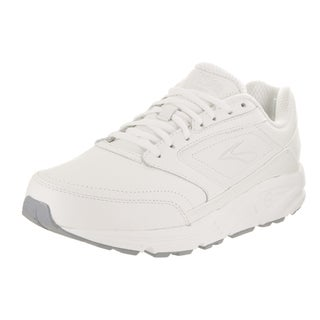 Brooks Men's Addiction Walker 4E White Leather Casual Shoes