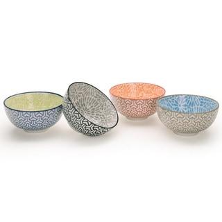 Signature Housewares Design 2 Set of 4 Assorted 6-Inch Bowls