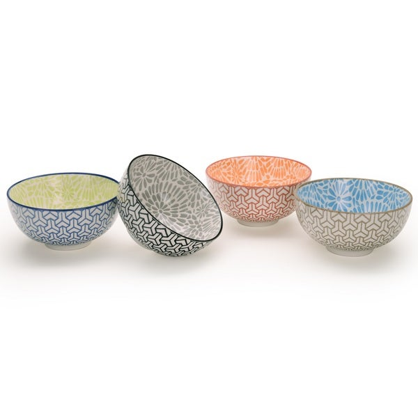 Signature Housewares Design 2 Set of 4 Assorted 6-Inch Bowls. Opens flyout.