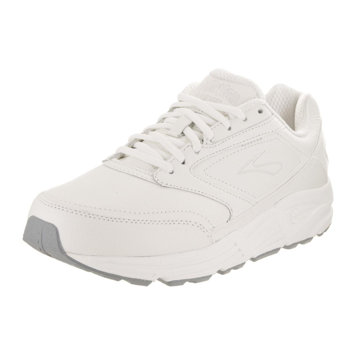 BROOKS Men's Addiction Walker 2E White Leather Running Sh...