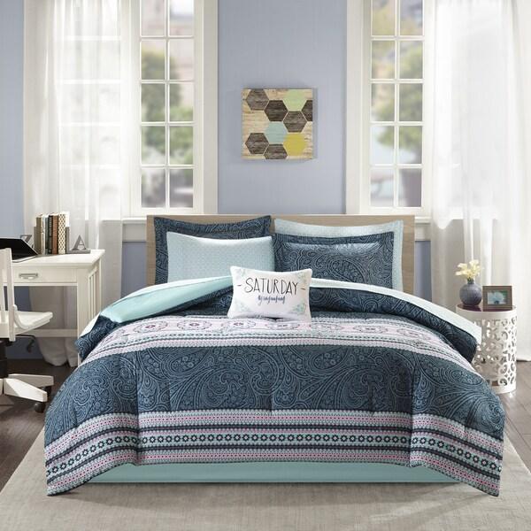 Intelligent Design Gloria Blue Bed in a Bag Set