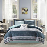 Intelligent Design Gloria Blue Bed in a Bag Set