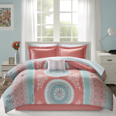 Intelligent Design Eleni Coral Bed in a Bag Set