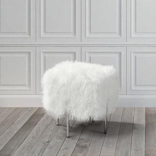 Kiev Ottoman-Small White Fur