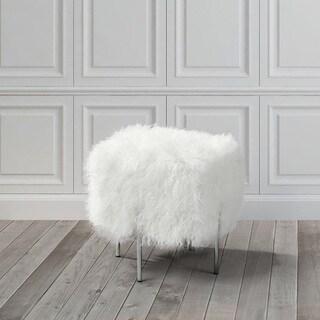 Kiev Ottoman-Small White Fur (2 options available)