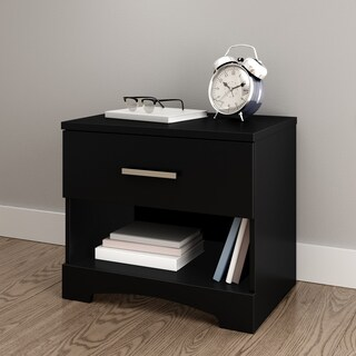 South Shore Gramercy Single-drawer Nightstand (Option: Beige)