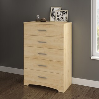 South Shore Gramercy 5-drawer Chest (Option: Beige - Natural Finish)