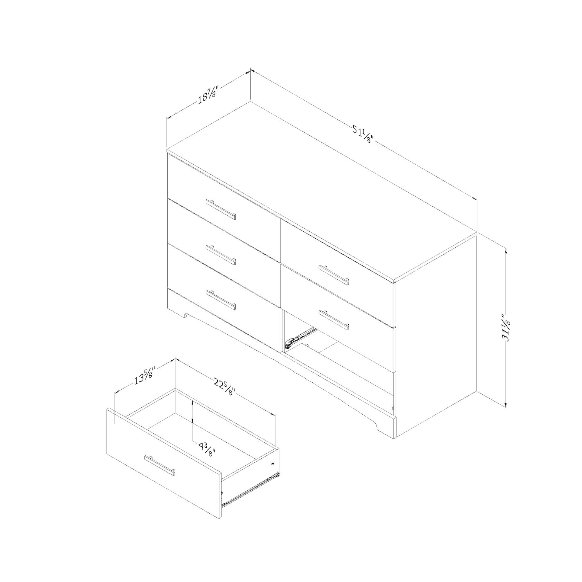 South Shore Furniture Gramercy 6-drawer Double Dresser (B...