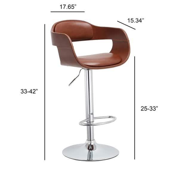 Stupendous Shop Mid Century Modern Brown Swivel Adjustable Wood Metal Ibusinesslaw Wood Chair Design Ideas Ibusinesslaworg