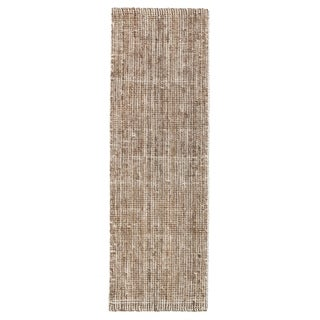 Jani Zane Natural and Ivory Jute and Upcycled Cotton Runner Rug (2'6 x 8') - 2'6 x 8'
