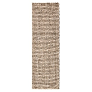 Jani Ayda Tan and Multi Jute and Recycled Newspaper Runner Rug - 2'6 x 8'