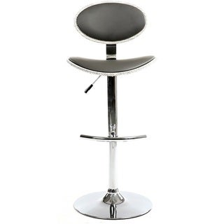 Somette Grey Chrome Pneumatic Stool