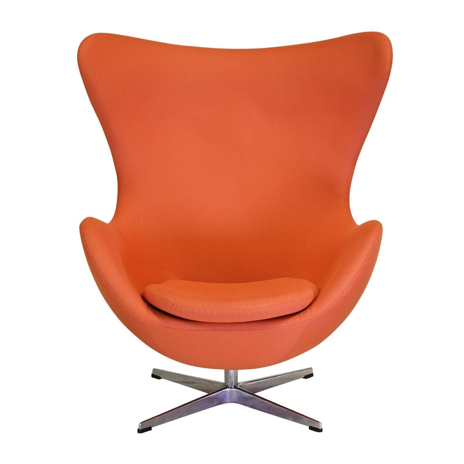 Joseph Allen Midcentury Modern Egg Orange Swivel Chair