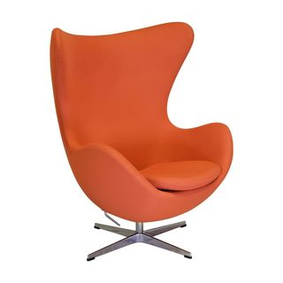 Joseph Allen Midcentury Modern Egg Orange Swivel Chair