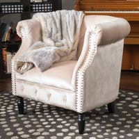 Akira Velvet Club Chair by Christopher Knight Home