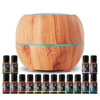 artnaturals 150ml Essential Oil Diffuser & Top 16 Essential Oil Set