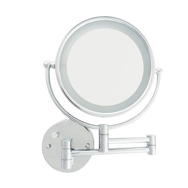 Shop Danielle Led Lighted 5x Makeup Mirror With Wall Mount