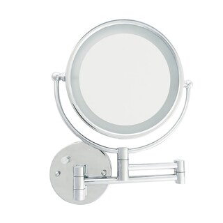 Danielle LED Lighted 5X Makeup Mirror with Wall Mount