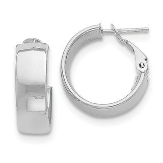 14 Karat White Gold Hoop Earrings