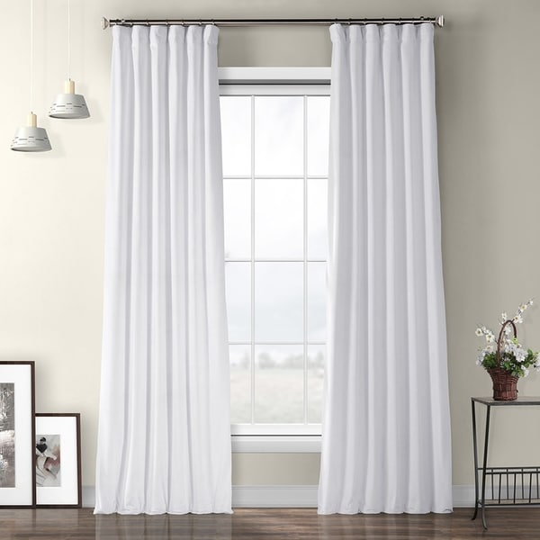 Buy White, Velvet Curtains \ Drapes Online at Overstock | Our Best