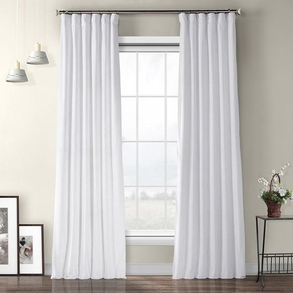 Buy White, Velvet Curtains \ Drapes Online at Overstock | Our Best