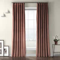 Exclusive Fabrics Heritage Plush Velvet Single Curtain Panel
