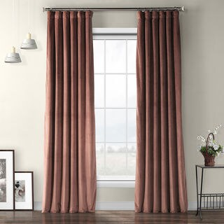Exclusive Fabrics Heritage Plush Velvet Curtain (3 options available)