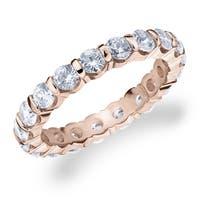 Amore 10K Rose Gold 2.0 CTTW Eternity Diamond Wedding Band