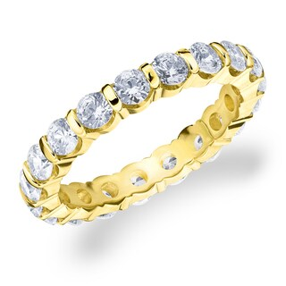 Amore 10K Yellow Gold 2.0 CTTW Eternity Diamond Wedding Band
