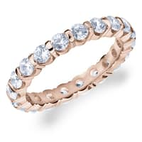 Amore 10K Rose Gold 1.50 CTTW Eternity Diamond Wedding Band