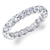 Amore 10K White Gold 1.50 CTTW Eternity Diamond Wedding Band