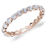 Amore 10K Rose Gold 1.0 CTTW Eternity Diamond Wedding Band