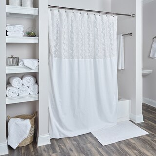 Arden Loft Coquette Collection Shower Curtain in White(As Is Item)