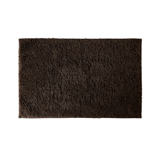 Somette Grace Chocolate 24 x 40 Cotton Bath Rug (As Is Item)