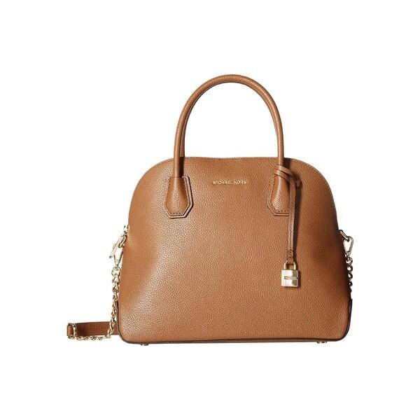 83e779938 Shop Michael Kors Studio Mercer Large Luggage Dome Satchel Handbag ...