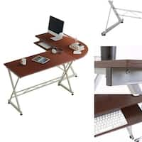 L-Shaped Office Wooden laptop PC Table Workstation Computer Desk