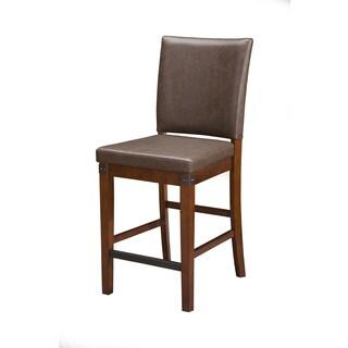Alpine Artisan Brown Veneer/Rubberwood Counter-height Chairs (Set of 2)